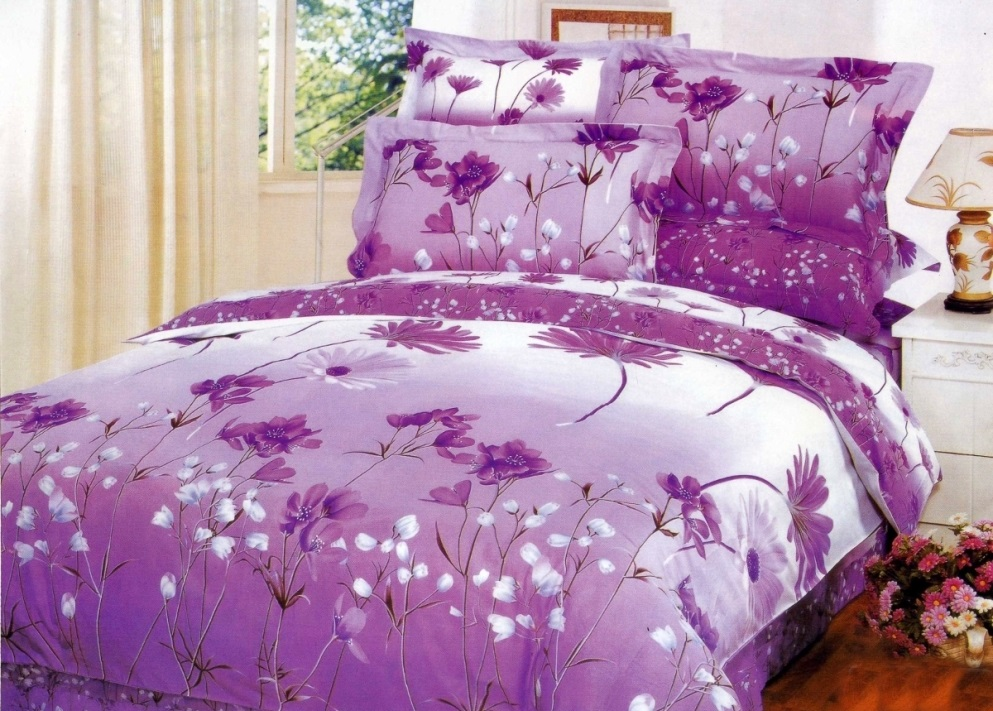 Сиреневое постельное белье
