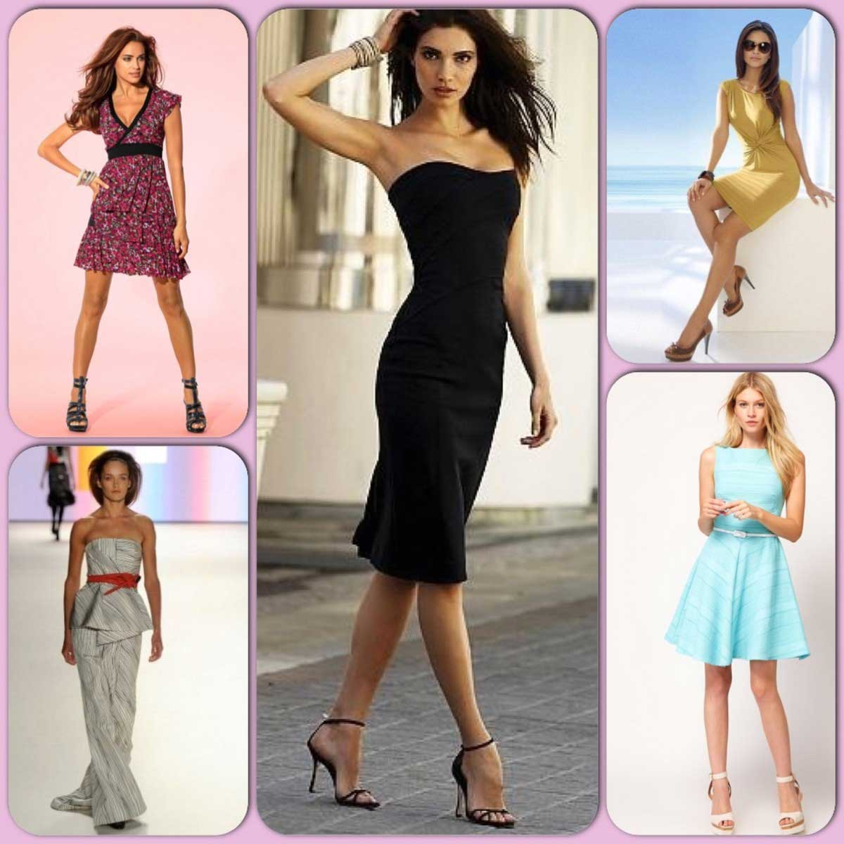 Женские соблазнительные фигуры в платьях