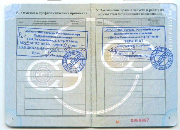Как быстро сделать санитарную книжку в тольятти