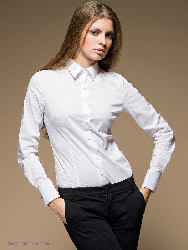 фотографии девушек в белой рубашке