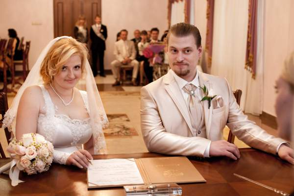 Свадебная фотография в гагаринском загсе, фотография свадьбы в гагаринском загсе