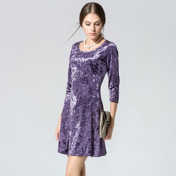 Бархатное платье 2017