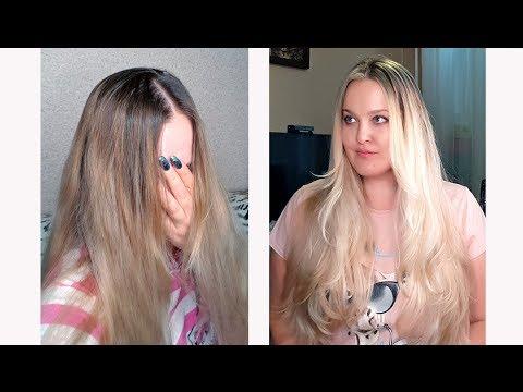 Air Touch НА СЕБЕ. Окрашиваю свои волосы в технике Эйртач , снова блонд!
