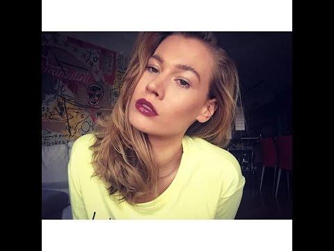 Зимний макияж 2016/Мальчишеские брови, темные губы,стробинг. Анна Корн