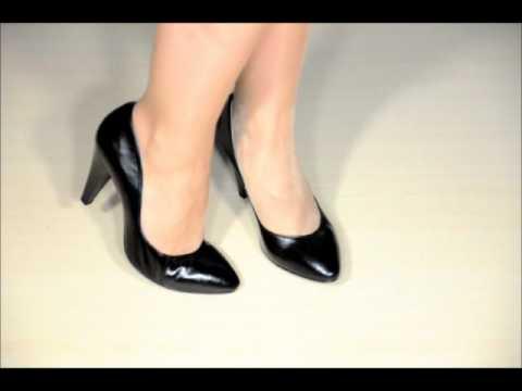 Женские классические туфли 970065 black.wmv
