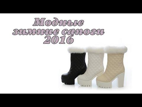 Модные женские сапоги зима 2016