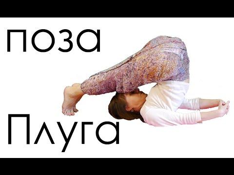 асана Халасана видео урок для начинающих | поза плуга Йога для женщин