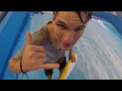 Искусственная волна в Sunpark wake surf station (Санкт-Петербург)