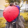 Оригинальный зонт сердце
