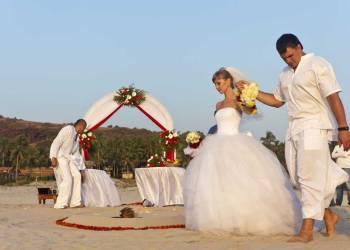 Свадебная церемония на экзотических берегах Индии