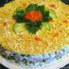 Салат – торт из крабового мяса