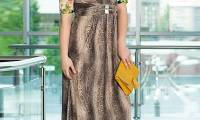 Как выбрать модное длинное платье большого размера