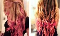 Цветное окрашивание кончиков волос дома