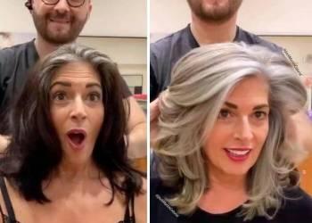 Окрашивание седых волос и сохранить цвет надолго