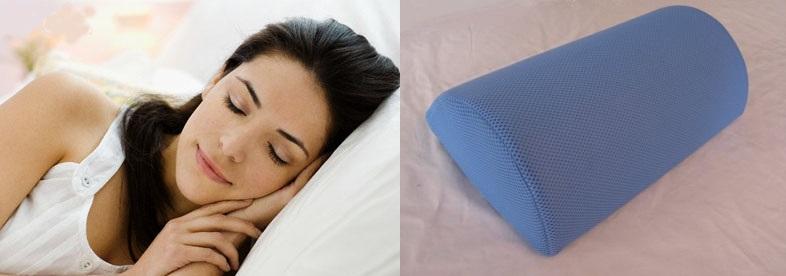 Высокая подушка и валик