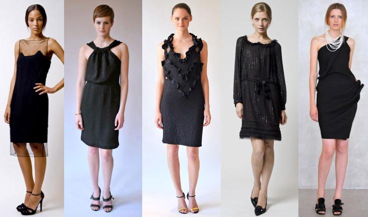 Красивые черные платья - фотография