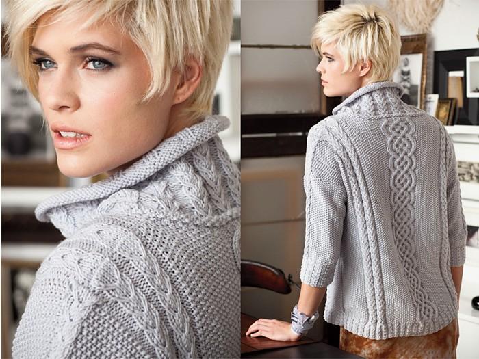 Красивый женский свитер - фото