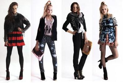 Худые девушки в модной одежде