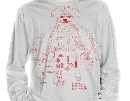 Рубашка с принтами