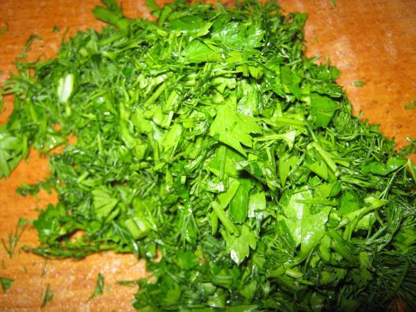 Зеленый борщ с рисом