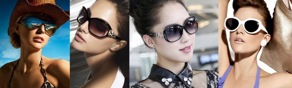 В солнцезащитных очках можно выглядеть по разному