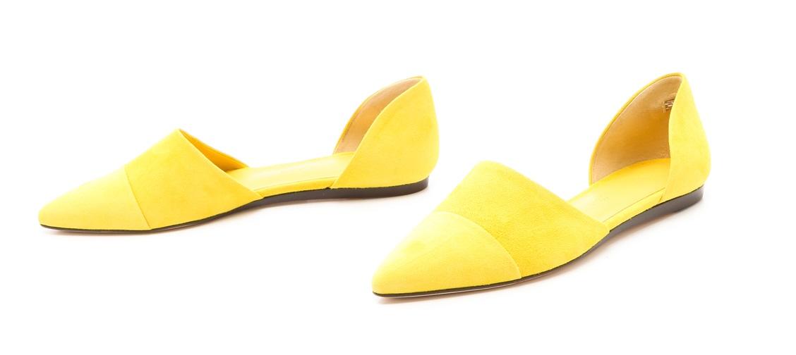 Лимонные туфли