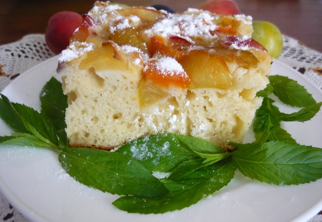 Кусок готового пирога