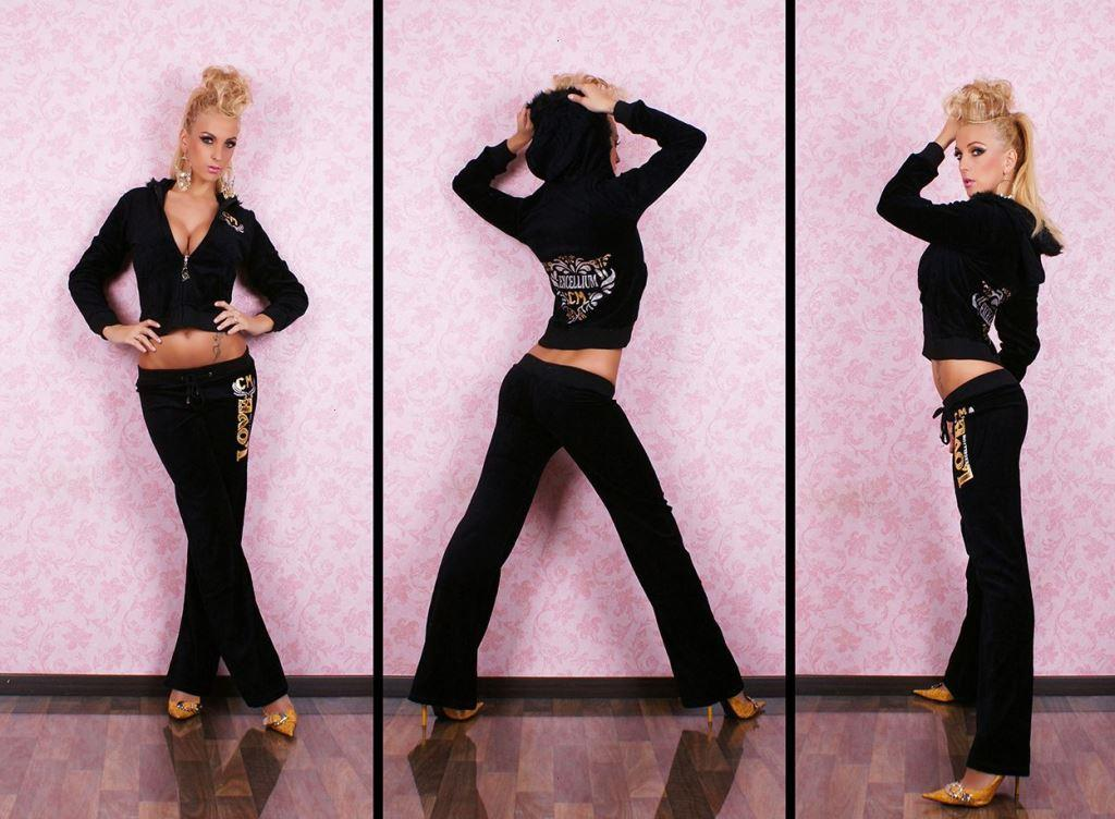 Черная спортивная одежда