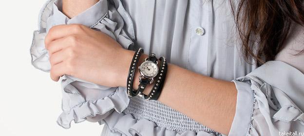 Часы с несколькими браслетами