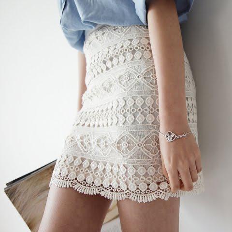 Аккуратная кружевная юбочка