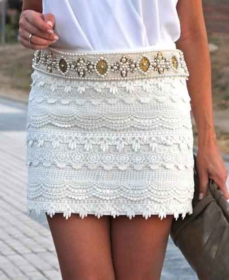 Еще одна юбка в кружевах