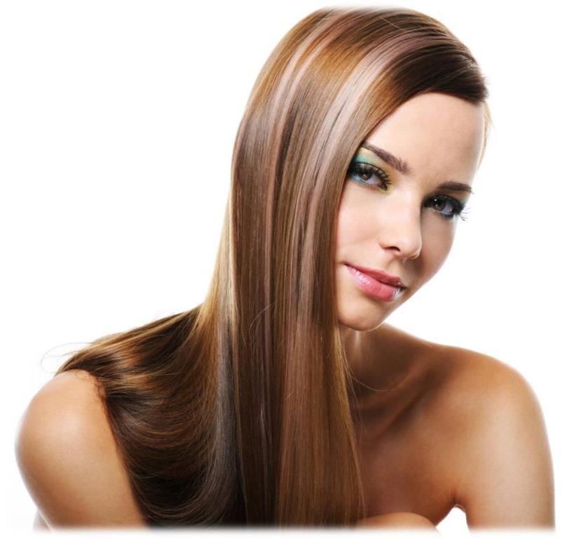 Девушка с наращиванием волос