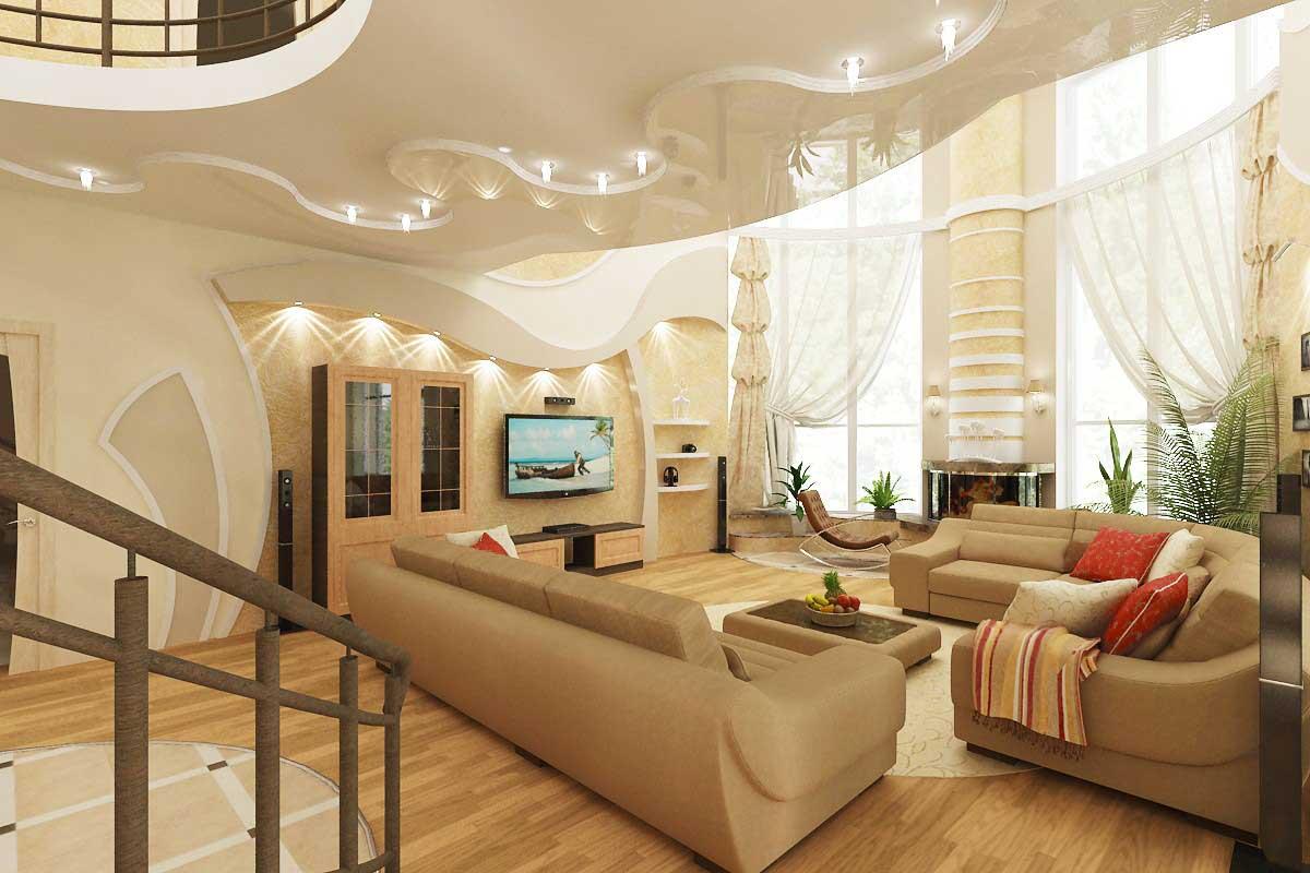 просто хотелось дизайн потолков в частном доме фото можете