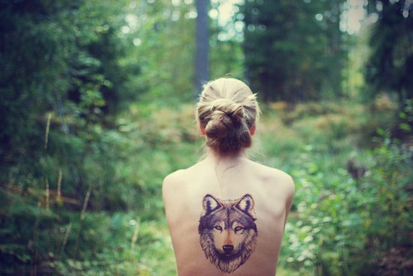 Значение тату волка