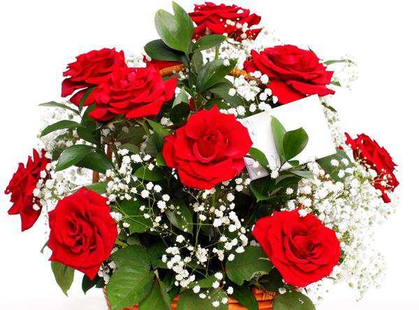 Цветы с запиской