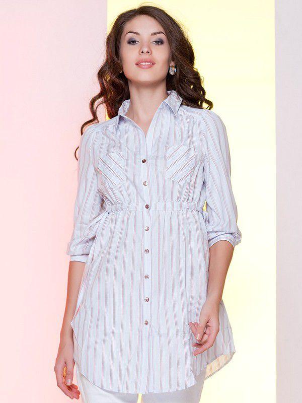 57b40a19a8e Модные Рубашки Женские 2016 Фото В Полоску