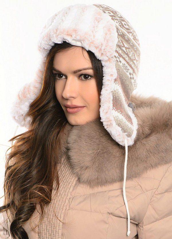 Меховая шапка женская 2015