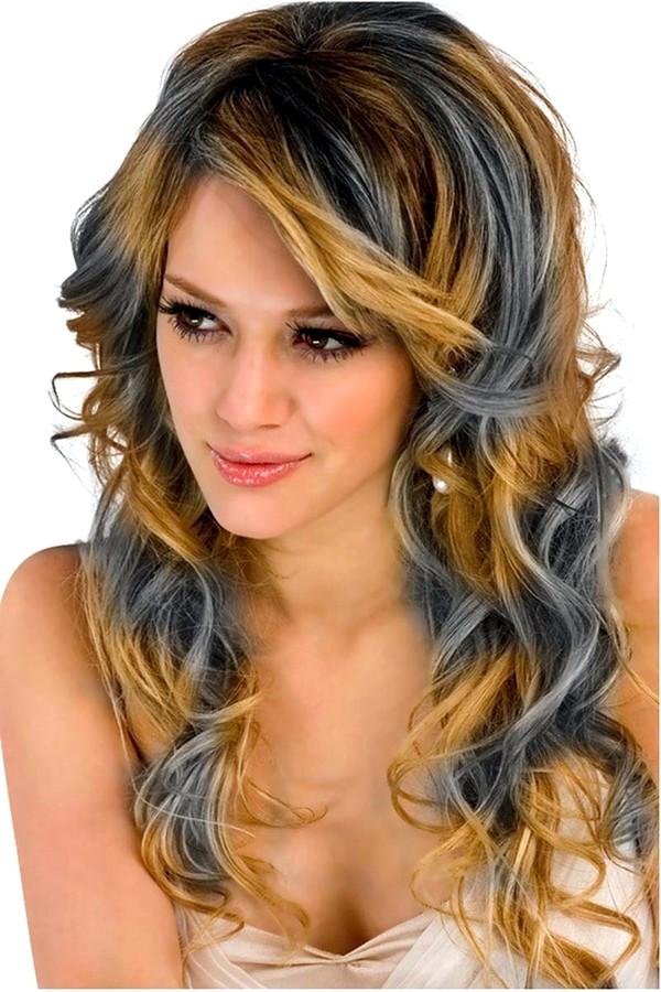Волосы радуга
