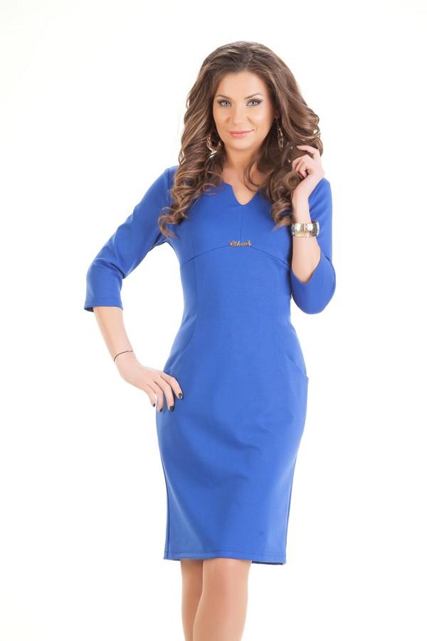 С чем носить модное синее платье