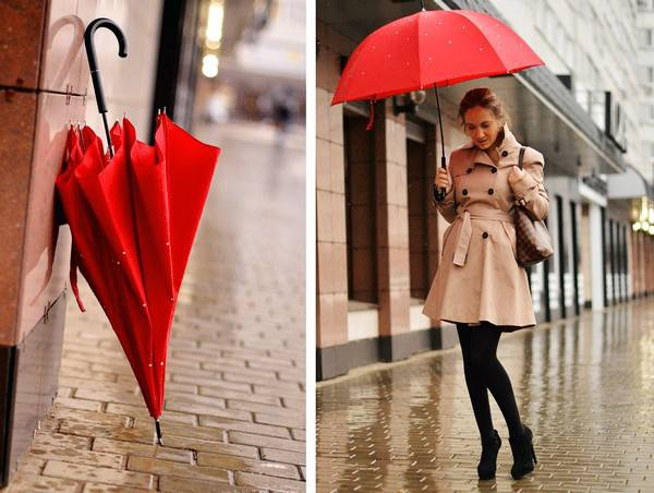 Как выбрать модные и красивые зонтики