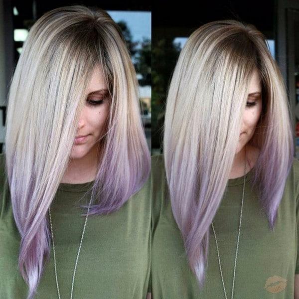 Примеры окрашенных кончиков волос
