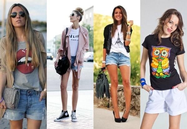С чем носить женскую футболку