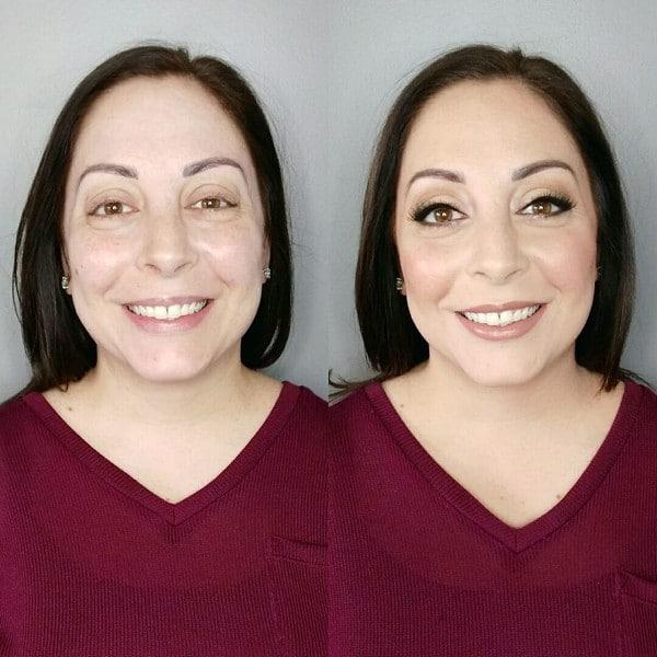 Правильный макияж до и после