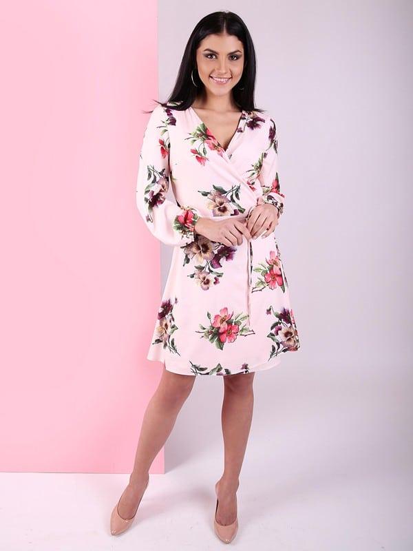 Осенние платья с ярко-цветочным принтом