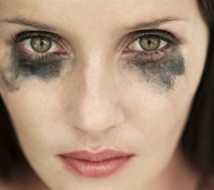 «Потёкший» макияж глаз