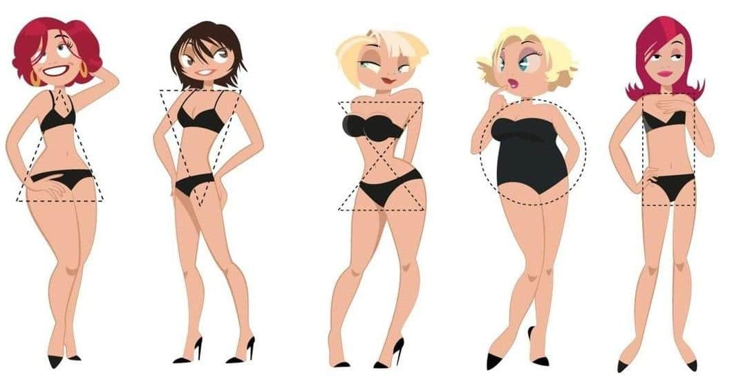 Коррекция фигуры в зависимости от типа фигуры женщины