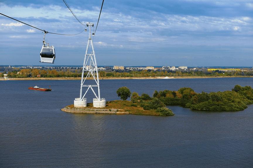 Куда сходить с детьми в Нижнем Новгороде. Нижегородские Канатные Дороги