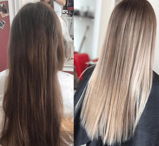 Окрашивание волос аэртач