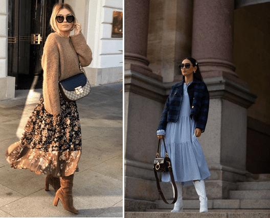Как одеваться зимой стильно: Свитер/жакет/кожаная рубаха на легкое платье