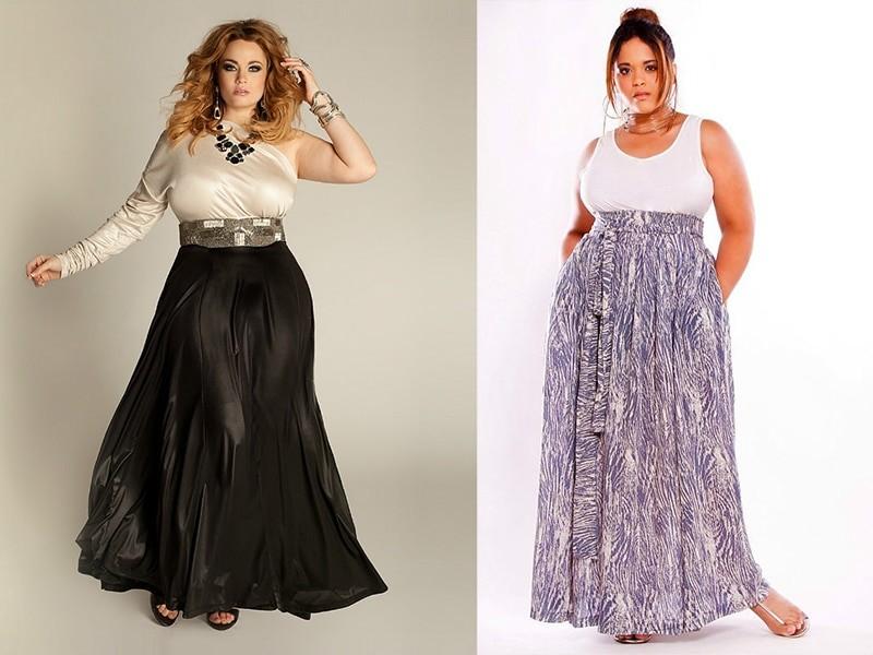 С чем одеть длинную юбку полным женщинам?